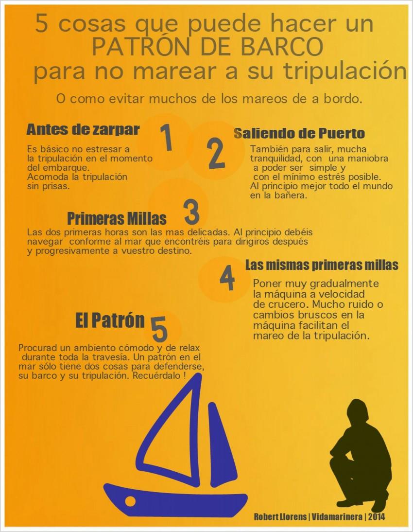 5 cosas que puede hacer el patron contra el mareo